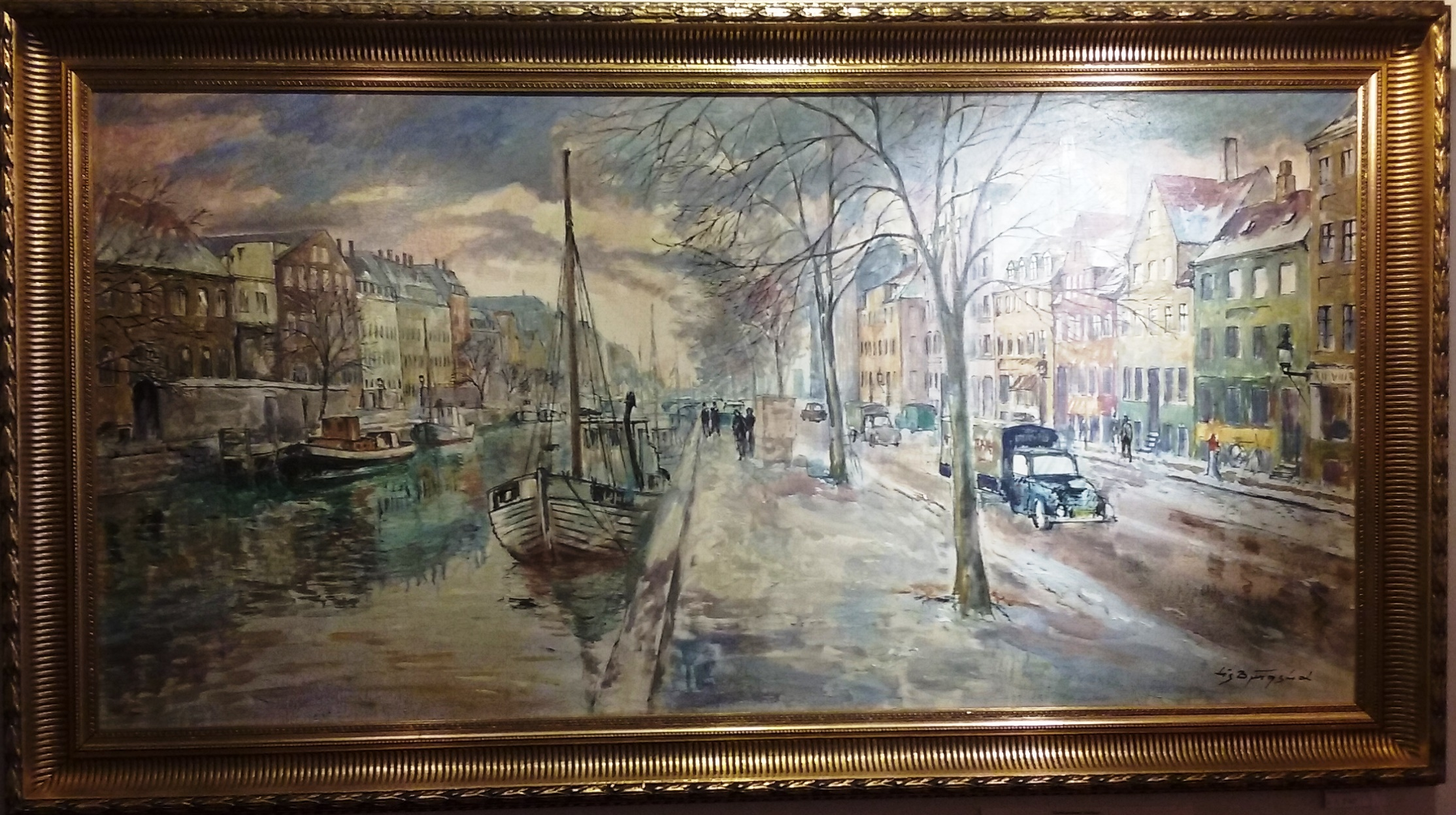 'Christianshavn' Harbour, Copenhagen - Art By Lis Bjergsted at Barbers Gallery Woking Surrey