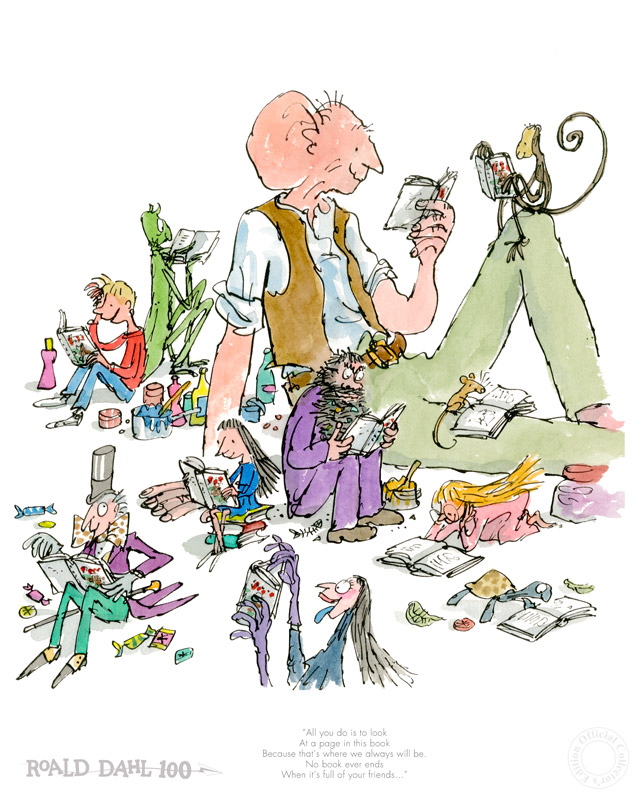 Barbers Gallery Woking Surrey Selling Roald Dahl Art Illustrations By Quentin Blake OBE
