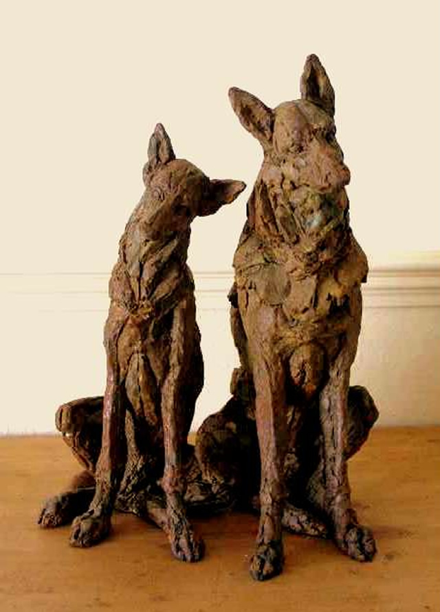 Dogs Sculpture - Exhibition by North Surrey Artists at Woking Surrey Gallery
