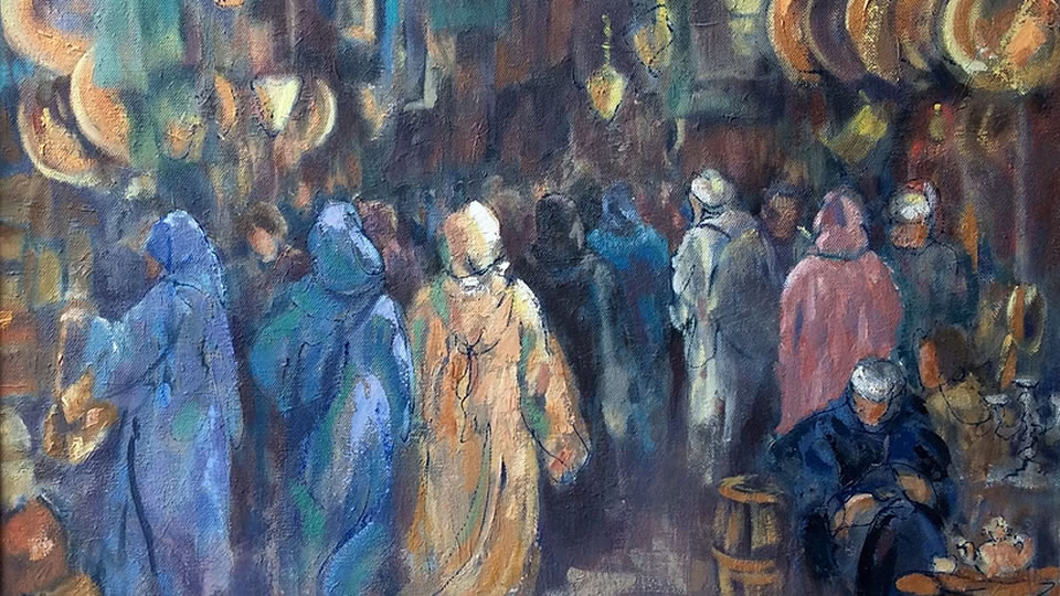 Souk Painting - Art Exhibition in Woking Surrey
